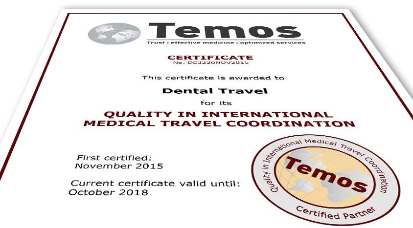 TEMOS-Zertifikat Dental Travel